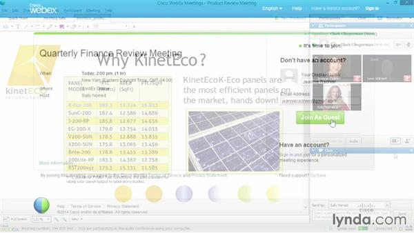 Welcome: Up and Running with WebEx Meetings