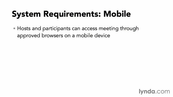 Exploring system requirements: Up and Running with WebEx Meetings
