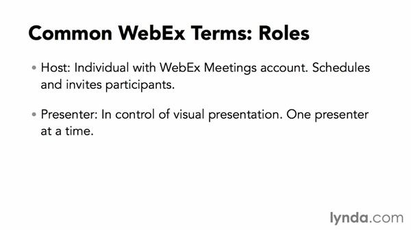 Understanding common WebEx Meetings terminology: Up and Running with WebEx Meetings