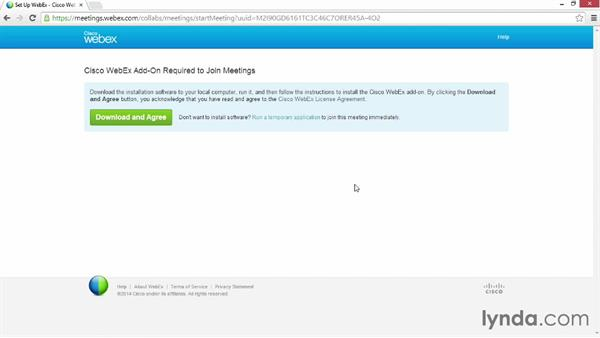 Installing the WebEx Meetings plugin app: Up and Running with WebEx Meetings