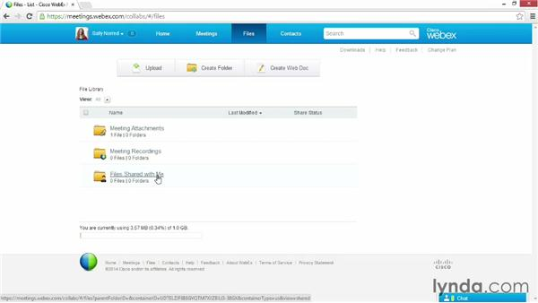 Touring the account dashboard: Up and Running with WebEx Meetings