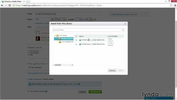 Scheduling meetings: Up and Running with WebEx Meetings