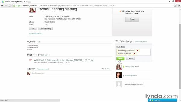 Inviting participants to scheduled meetings: Up and Running with WebEx Meetings