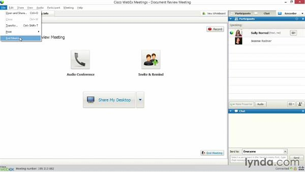 Starting and ending meetings: Up and Running with WebEx Meetings