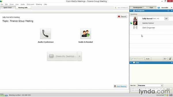Hosting WebEx meetings: Up and Running with WebEx Meetings