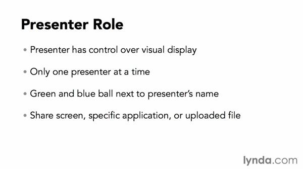 Understanding the presenter role: Up and Running with WebEx Meetings