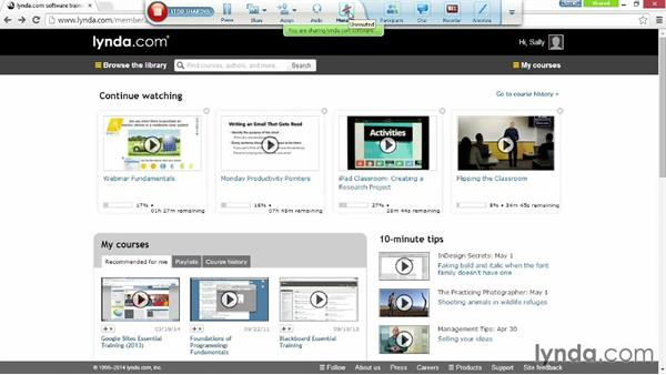 Touring the presenter toolbar: Up and Running with WebEx Meetings