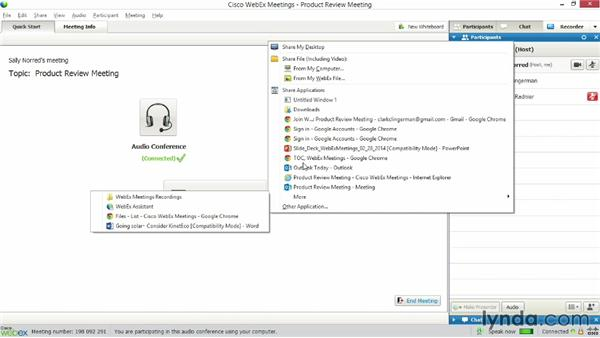 Sharing files: Up and Running with WebEx Meetings