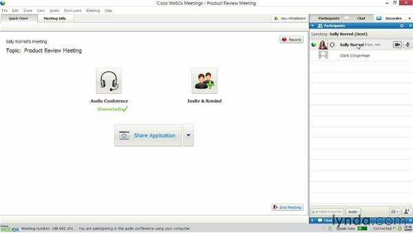 Sharing streaming webcam video: Up and Running with WebEx Meetings