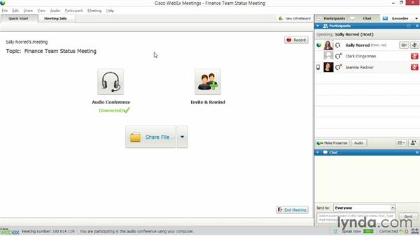 Managing audio controls: Up and Running with WebEx Meetings