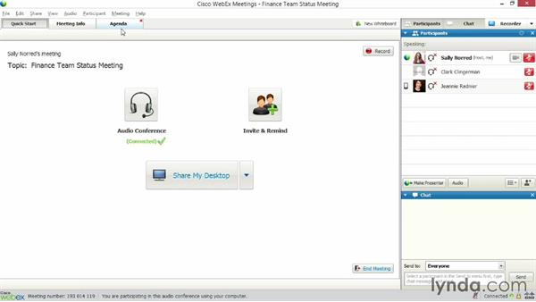 Using whiteboards: Up and Running with WebEx Meetings