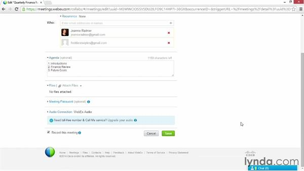 Recording a meeting: Up and Running with WebEx Meetings