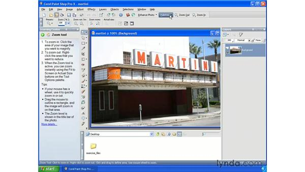 Exploring the interface: Getting Started with Paint Shop Pro X