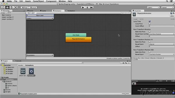 Building animations: Unity 4 2D Essential Training