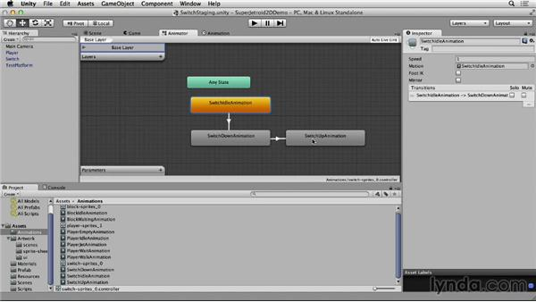 Creating switches: Unity 4 2D Essential Training