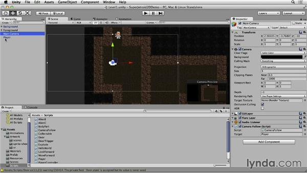 Setting up the camera: Unity 4 2D Essential Training