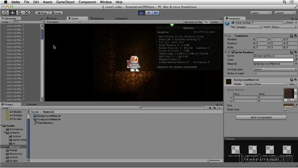 Lighting effects: Unity 4 2D Essential Training