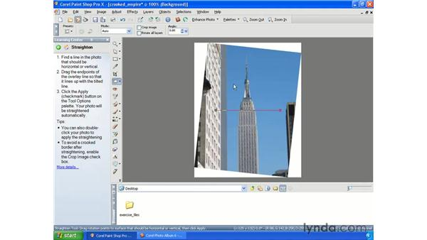 Straightening photos: Getting Started with Paint Shop Pro X