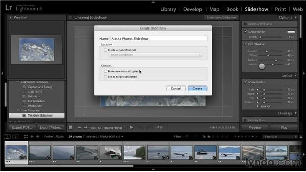Saving a slideshow project: Lightroom 5: 04 Creating Slideshows