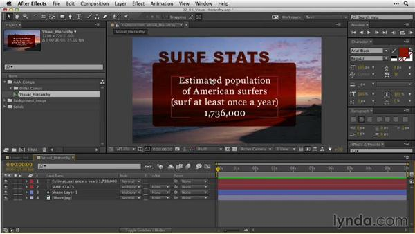 Creating visual hierarchy for faster understanding: After Effects Guru: Animating Typography