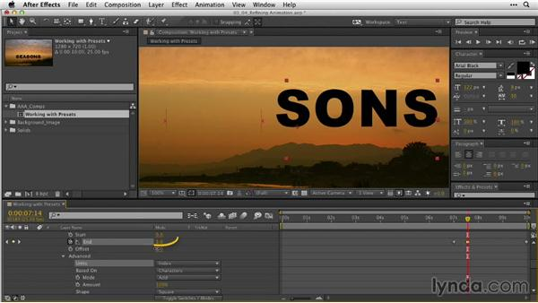 Refining the animation: After Effects Guru: Animating Typography