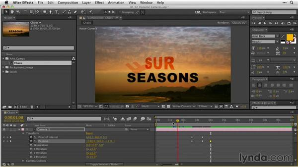 Animating cameras for dynamic simulation: After Effects Guru: Animating Typography