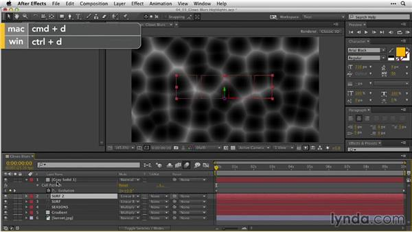 Building glows, blurs, and highlights: After Effects Guru: Animating Typography