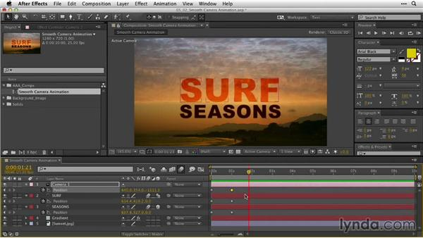Creating smooth camera animation: After Effects Guru: Animating Typography