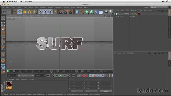 Enhancing with textures and CINEMA 4D Lite: After Effects Guru: Animating Typography