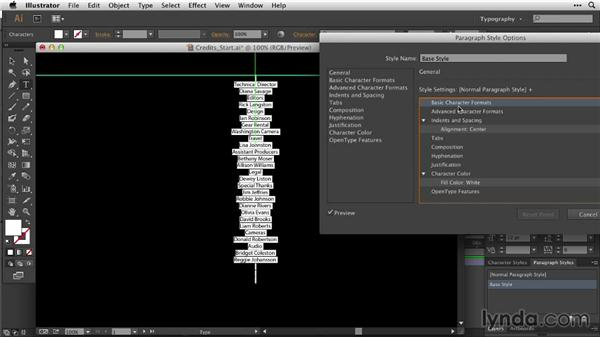 Building a detailed credit roll: After Effects Guru: Animating Typography
