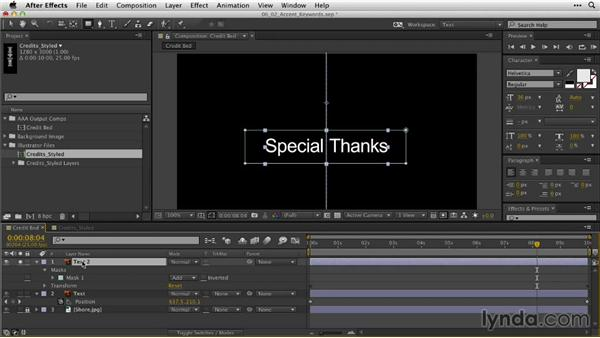 Accenting key words: After Effects Guru: Animating Typography