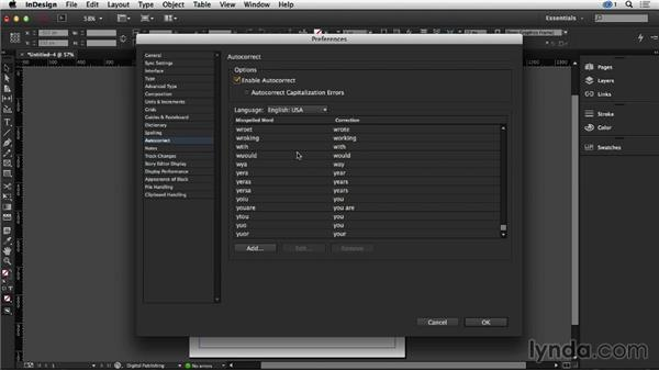 Setting up your own Autocorrect in InDesign: Creative Quick Tips