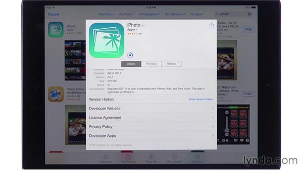 Installing iPhoto: iPhoto for iOS Essential Training