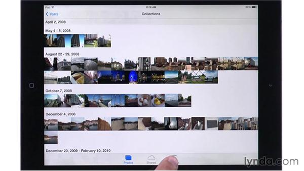 Exploring the interface: iPhoto for iOS Essential Training