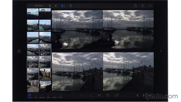 Browsing and examining photos: iPhoto for iOS Essential Training