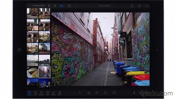 Hiding and deleting photos: iPhoto for iOS Essential Training