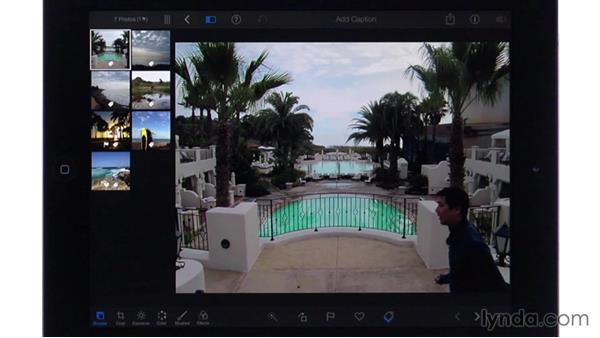 Setting key photos: iPhoto for iOS Essential Training