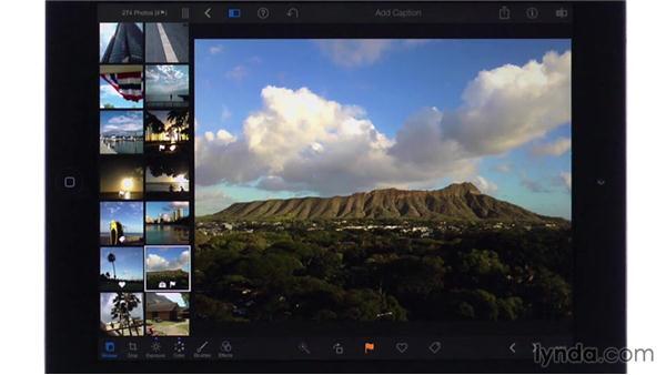 Auto-enhancing: iPhoto for iOS Essential Training
