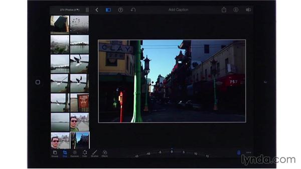 Cropping and straightening: iPhoto for iOS Essential Training