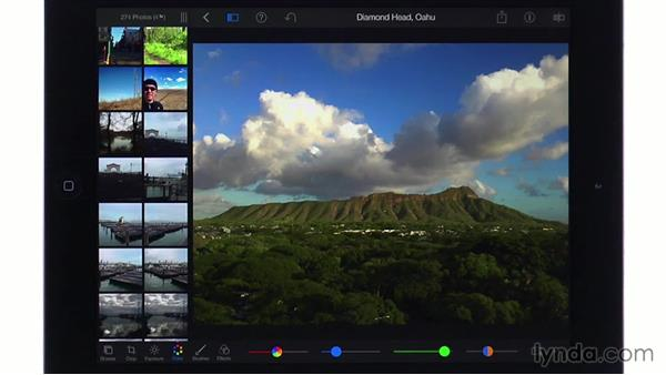 Adjusting color: iPhoto for iOS Essential Training