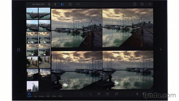 Copying and pasting edits: iPhoto for iOS Essential Training