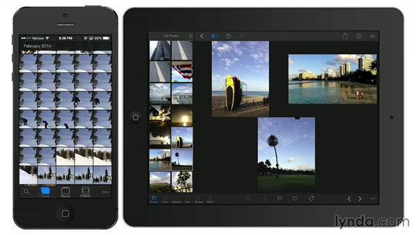 Beaming and AirDropping photos to other devices: iPhoto for iOS Essential Training