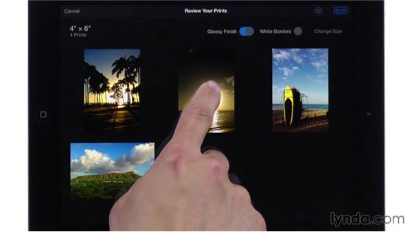 Ordering prints: iPhoto for iOS Essential Training