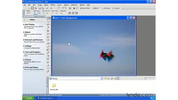 Simulating motion: Getting Started with Paint Shop Pro X
