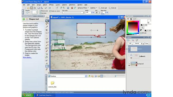 Adding shapes: Getting Started with Paint Shop Pro X