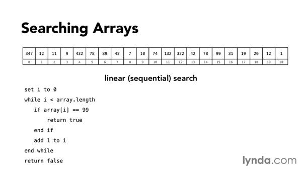Searching arrays: Foundations of Programming: Data Structures