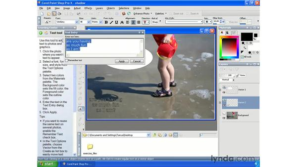 Adding text: Getting Started with Paint Shop Pro X