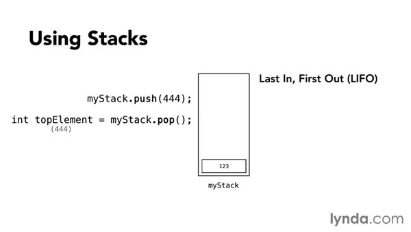 Using stacks for last-in, first-out: Foundations of Programming: Data Structures