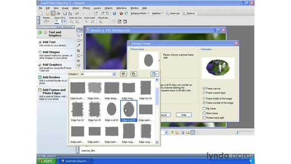 Adding frames and edges : Getting Started with Paint Shop Pro X