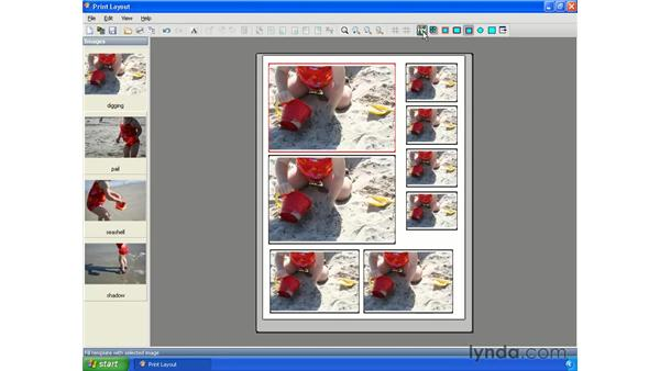 Printing multiple photos: Getting Started with Paint Shop Pro X